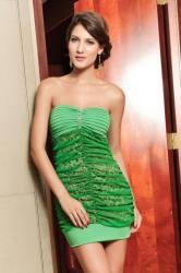 Dámske zelené šaty Damson d-sat227ze