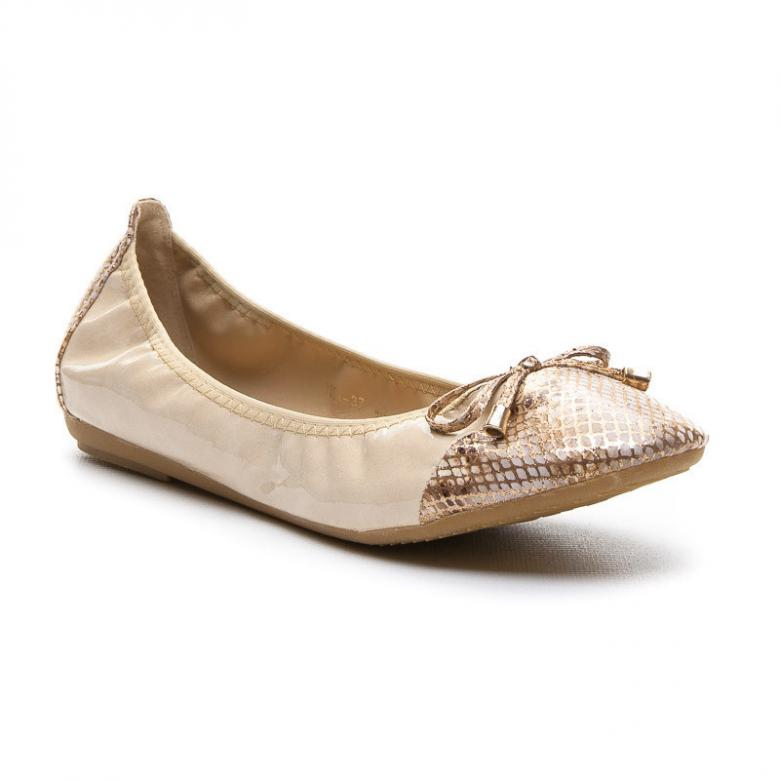 4270bacde5 Dámske zlaté balerínky Vices Y605GO - (Tipy na Valentína)