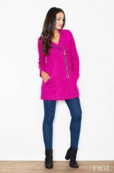 Dámsky kabát FIGL M405 tmavo ružový