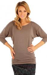Dámsky sveter s netopierími 3/4 rukávom Litex 87393