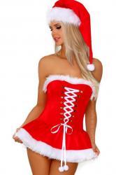 Dámsky vianočný kostým Livia Riveria