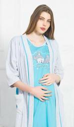 Dámsky župan s materskou košeľou Vienetta Secret Matylda