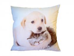 Dekoratívne Fotovankúšik Dadka Psík objímajúci mačiatko