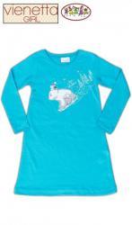 Detská nočná košeľa s dlhým rukávom Vienetta Secret Méďa na saniach