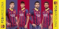 Detská osuška FC Barcelona 03 hráčmi