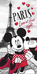 Detská osuška Jerry Fabrics Mickey and Minnie in Paris