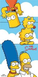 Detská osuška Jerry Fabrics Simpsons family Clouds