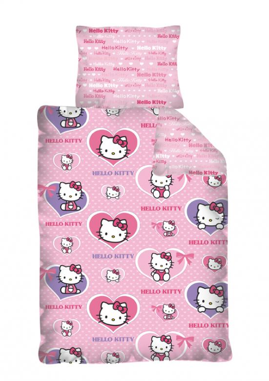 Detsk bavlnen n vlie ky hello kitty srdie ka dadka for Housse de voiture hello kitty