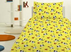 Detské bavlnené obliečky - Psík žltý