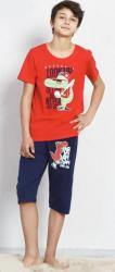 Detské kapri pyžamo Vienetta Secret Krokodýl červené