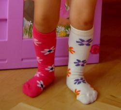 Detsk� podkolienky Design Socks kvetinky
