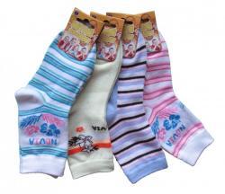 Detské ponožky Novia kvietok-pruh 3 páry