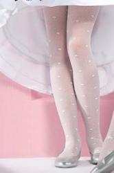 Detské punčocháče Gabriella 759 Liza bílé