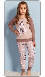 Detské pyžamo dlhé Vienetta Secret Tučniaci