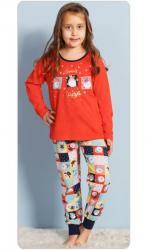 Detské pyžamo dlhé Vienetta Secret Vianoce