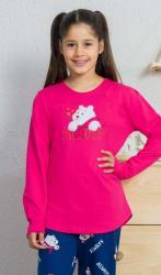 Detské pyžamo dlouhé Vienetta Secret Méďa