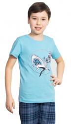 Detské pyžamo kapri Vienetta Secret Žralok a kostlivec