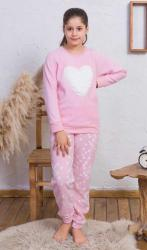 Detské pyžamo teplé Vienetta Secret Srdce