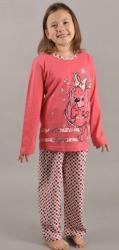 Detské pyžamo Vienetta Secret Pes v šatách červenej