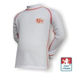 Detsk� spodky + tri�ko Suspect Animal dlh� ruk�v biela / oran�ov� Silvertech