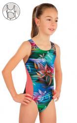 Dievčenské jednodielne športové plavky Litex 57588