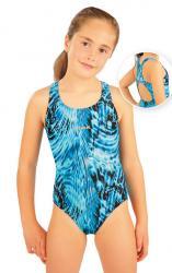 Dievčenské jednodielne športové plavky Litex 88506 tlač