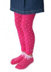 Dievčenské legíny Design Socks - bodka mašlička