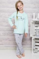 Dievčenské pyžamo Taro 690 mint