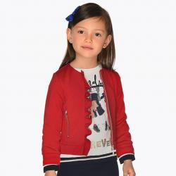 Dívčí červená mikina Starosta 4425