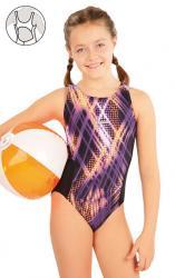 Dívčí jednodílne športové plavky Litex 63649
