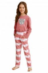 Dívčí pyžamo Taro 2588 Carla růžové