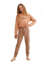 Dívčí pyžamo Taro 2618 Suzan hnědé