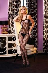 Erotické body Electric Lingerie EH425-BLK Crotchless Lace Bodystocking