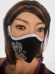 Obličejová ochrana-rouška s výšivkou a kapsou