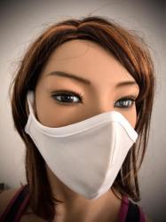 Obličejová ochranná rouška biela za uši