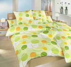 Posteľné obliečky krep DADKA Wimbledon zelený - 70x90 + 140x200