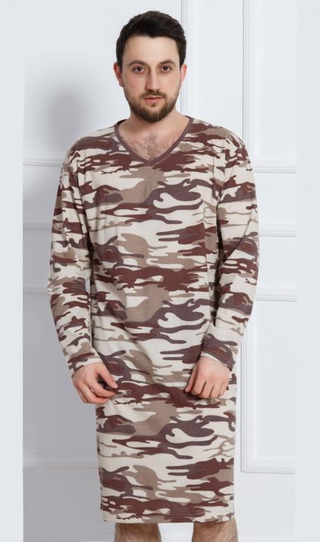 055ecc1f6 Pánska nočná košeľa s dlhým rukávom Vienetta Secret Army - Vienetta ...