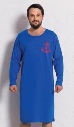 Pánska nočná košeľa s dlhým rukávom Vienetta Secret Kotva