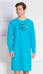 Pánska nočná košeľa s dlhým rukávom Vienetta Secret Nightbird