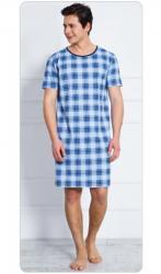Pánska nočná košeľa s krátkym rukávom Vienetta Secret Jan