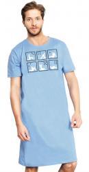 Pánska nočná košeľa s krátkym rukávom Vienetta Secret Kamasutra