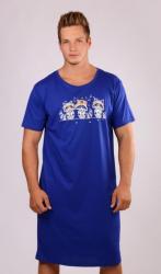 Pánska nočná košeľa s krátkym rukávom Vienetta Secret Medvedíky čistotné