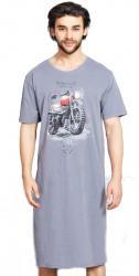Pánska nočná košeľa s krátkym rukávom Vienetta Secret Motorka
