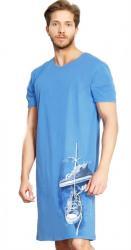 Pánska nočná košeľa s krátkym rukávom Vienetta Secret Tenisky