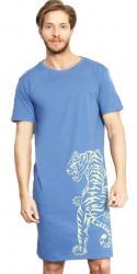Pánska nočná košeľa s krátkym rukávom Vienetta Secret Tygr