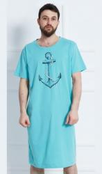 Pánska nočná košeľa s krátkym rukávom Vienetta Secret Veľká kotva