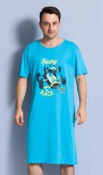 Pánska nočná košeľa s krátkym rukávom Vienetta secret Závodné auto
