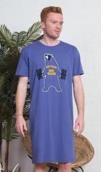 Pánska nočná košeľa Vienetta Secret Medvěd-krátký rukáv