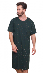 Pánska noční košile s krátkým rukávem Vienetta Secret Jakub