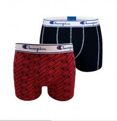 Pánske boxerky Champion 081W 2PACK červená/čierna